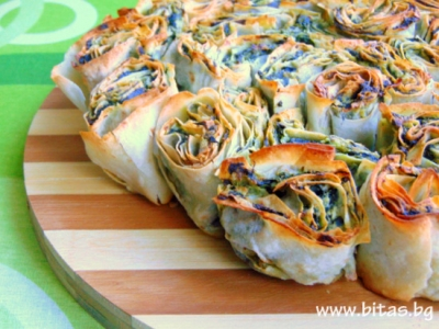 Easter banitsa with greens