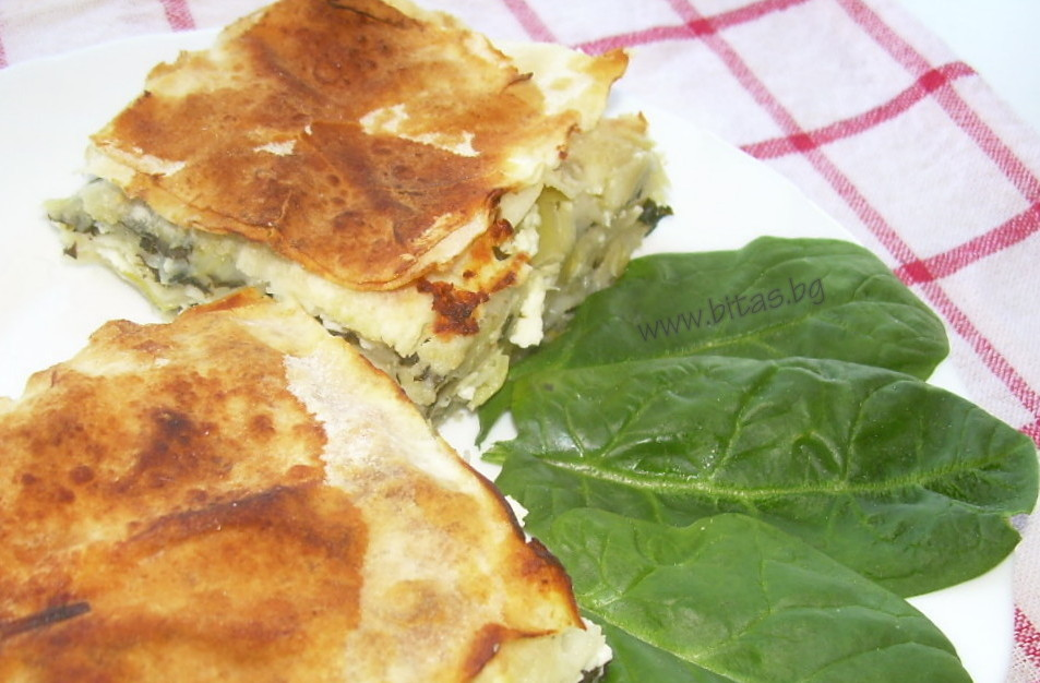 ZELNIK - layered banitsa with leeks and spinach